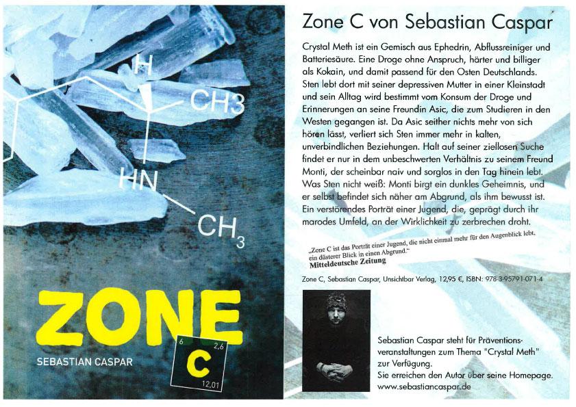Buchcover Zone C von Sebastian Caspar